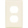 Cooper Wiring Devices 1-Gang Light Almond Standard Duplex Receptacle Plastic Wall Plate