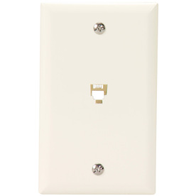 Cooper Wiring Devices 1-Gang Light Almond Phone Nylon Wall Plate