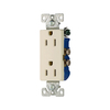 Cooper Wiring Devices 10-Pack 125-Volt 15-Amp Decorator Duplex Electrical Outlet