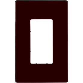 Cooper Wiring Devices 1-Gang Brown GFCI Polycarbonate Wall Plate