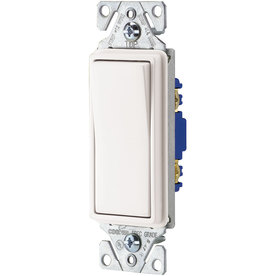 Cooper Wiring Devices 10-Piece 15-Amp White Decorator Light Switch