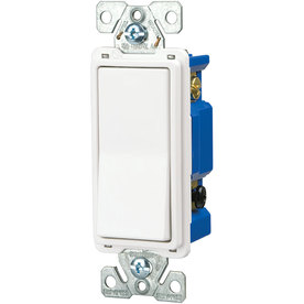 Eaton 1-Switch 15-Amp 4-Way Single Pole White Indoor Rocker Light Switch
