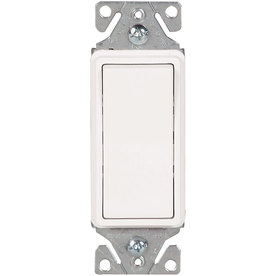 Cooper Wiring Devices 15-Amp White 3-Way Decorator Light Switch