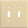 Cooper Wiring Devices 10-Pack 2-Gang Ivory Standard Toggle Nylon Wall Plates