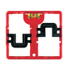 Cooper Wiring Devices 2-Gang Black Combination Plastic Wall Plate