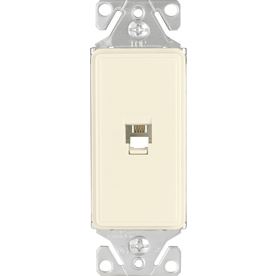 Cooper Wiring Devices 1-Gang Desert Sand Phone Nylon Wall Plate