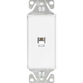 Cooper Wiring Devices 1-Gang White Satin Phone Nylon Wall Plate