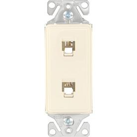 Cooper Wiring Devices Aspire 1-Gang Desert Sand Phone Nylon Wall Plate