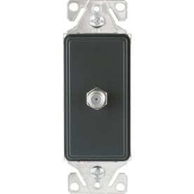 Cooper Wiring Devices 1-Gang Silver Granite Coaxial Nylon Wall Plate