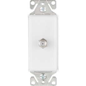 Cooper Wiring Devices 1-Gang White Satin Coaxial Nylon Wall Plate