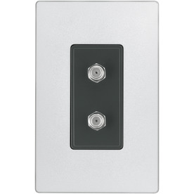 Cooper Wiring Devices Aspire 1-Gang Silver Granite Coax Nylon Wall Plate