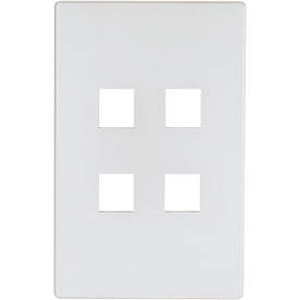 Cooper Wiring Devices Aspire 1-Gang Silver Granite Wall Plate
