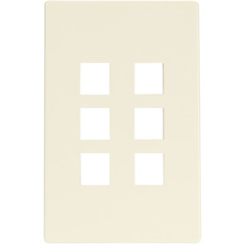 Cooper Wiring Devices Aspire 1-Gang Desert Sand Screwless Combination Nylon Wall Plate