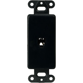 Cooper Wiring Devices 1-Gang Black Phone Plastic Wall Plate