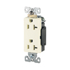 Cooper Wiring Devices 125-Volt 20-Amp Light Almond Decorator Duplex Electrical Outlet