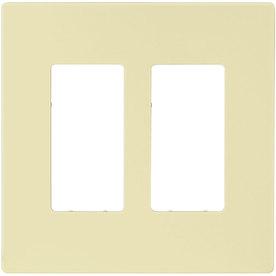 Eaton 2-Gang Almond Double Decorator Wall Plate
