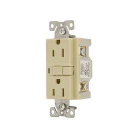 Cooper Wiring Devices 3-Pack 125-Volt 15-Amp Ivory Decorator GFCI Electrical Outlet