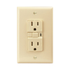 Cooper Wiring Devices 125-Volt 15-Amp Ivory Decorator GFCI Electrical Outlet