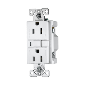 Cooper Wiring Devices 3-Pack 125-Volt 15-Amp White Decorator GFCI Electrical Outlet