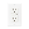 Cooper Wiring Devices 15-Amp White Decorator GFCI Electrical Outlet