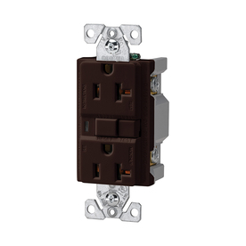 Cooper Wiring Devices 125-Volt 20-Amp Brown Decorator GFCI Electrical Outlet