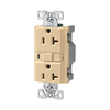 Cooper Wiring Devices 125-Volt 20-Amp Ivory Decorator GFCI Electrical Outlet