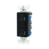 Cooper Wiring Devices 15-Amp Black Decorator Duplex Electrical Outlet