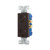 Eaton 125-Volt 15-Amp Decorator Duplex Electrical Outlet