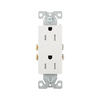 Eaton 10-Pack 15-Amp 125-Volt White Indoor Decorator Wall Outlets