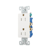 Eaton 125-Volt 15-Amp White Decorator Duplex Electrical Outlet