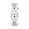 Cooper Wiring Devices 10-Pack 15-Amp White Duplex Electrical Outlet