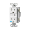 Cooper Wiring Devices 125-Volt 15-Amp White Decorator GFCI Electrical Outlet