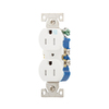 Eaton 125-Volt 15 Amp White Duplex Electrical Outlet