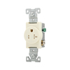 Cooper Wiring Devices 20-Amp Almond Single Electrical Outlet