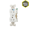 Eaton 20-Amp 125-Volt White Outdoor Duplex Wall Outlet