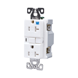 Cooper Wiring Devices 125-Volt 20-Amp White Decorator GFCI Electrical Outlet
