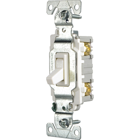 Cooper Wiring Devices 15-Amp White Light Switch CSB115STW-SP-L