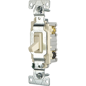 Cooper Wiring Devices 15-Amp Light Almond 3-Way Light Switch