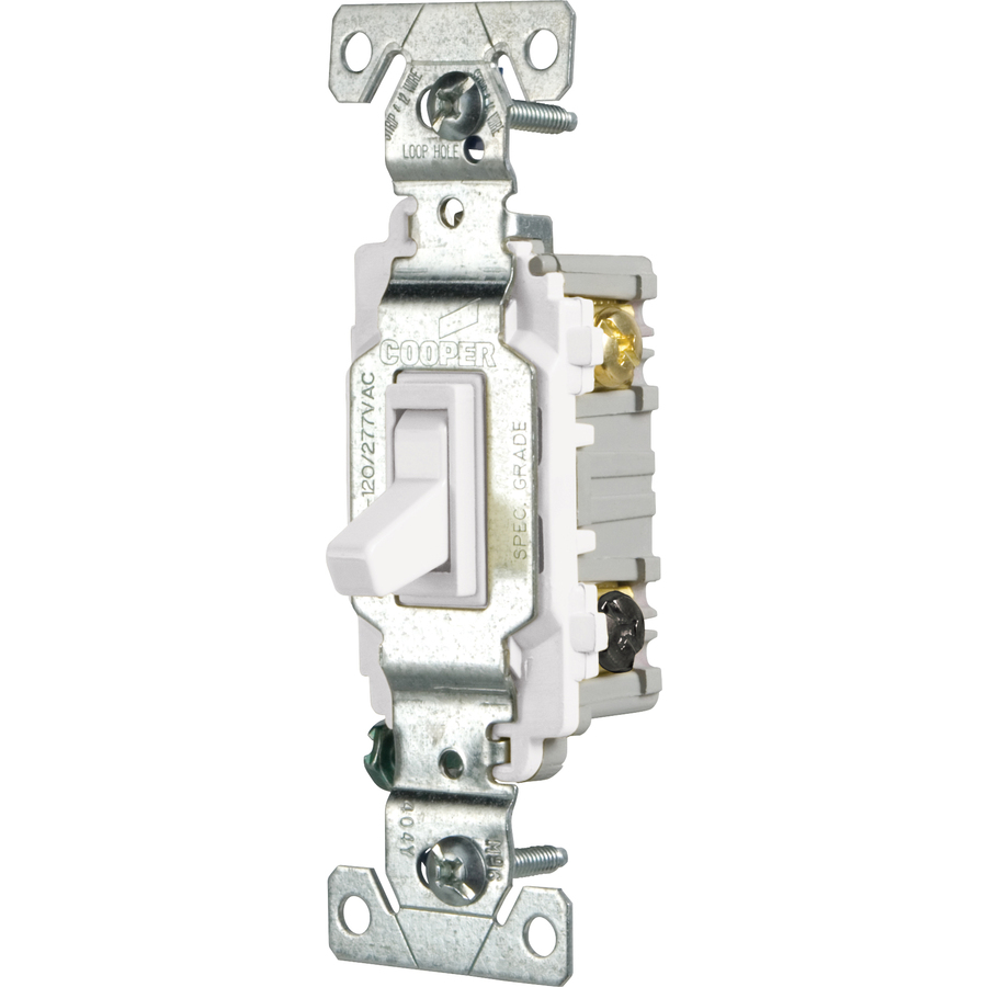 cooper wiring devices 15 amp white 3 way light switch at. Black Bedroom Furniture Sets. Home Design Ideas