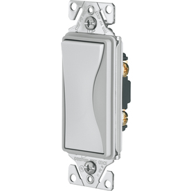 Cooper Wiring Devices 15-Amp Aspire White Satin Decorator Light Switch