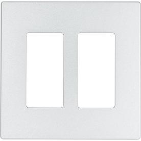 Eaton Aspire 2-Gang Silver Granite GFCI Thermoplastic Wall Plate