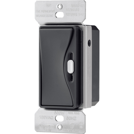 Cooper Wiring Devices Aspire 15 Amp 600-Watt Black 3-Way Compatible Slide Dimmer
