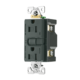 Cooper Wiring Devices 125-Volt 15-Amp Aspire Silver Granite Decorator GFCI Electrical Outlet