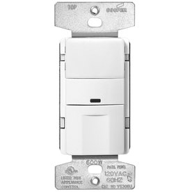 Eaton 1-Switch 600-Watt 3-Way Single Pole White Indoor Push Vacancy Sensor
