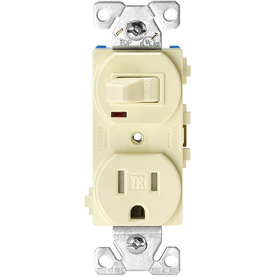 Cooper Wiring Devices 15-Amp Almond Combination Light Switch