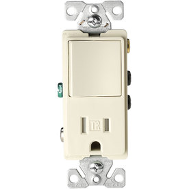 Cooper Wiring Devices on Cooper Wiring Devices 15 Amp Light Almond Combination Decorator Light