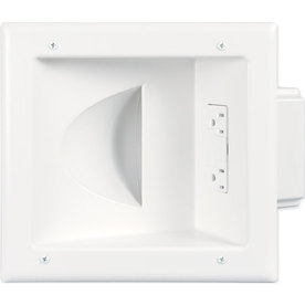 Eaton 2-Gang White Recessed Cable Access/Recessed Wall Plate
