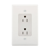Eaton 15-Amp 125-Volt White Recessed Indoor Decorator Wall Outlet