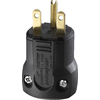 Cooper Wiring Devices 15-Amp 250-Volt Black 3-Wire Grounding Plug