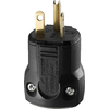 Cooper Wiring Devices 20-Amp 125-Volt Black 3-Wire Grounding Plug
